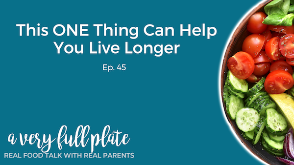 Title graphic for the one thing that can help you live longer podcast